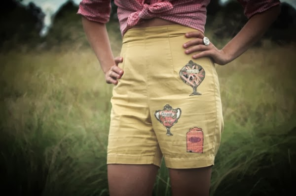 1950s Novelty Patch Shorts #candy #vintage #pinup #1950s