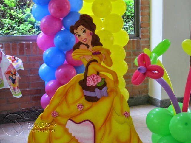 Decoracion fiestas princesas de disney recreacionistas - Fiestas infantiles princesas disney ...