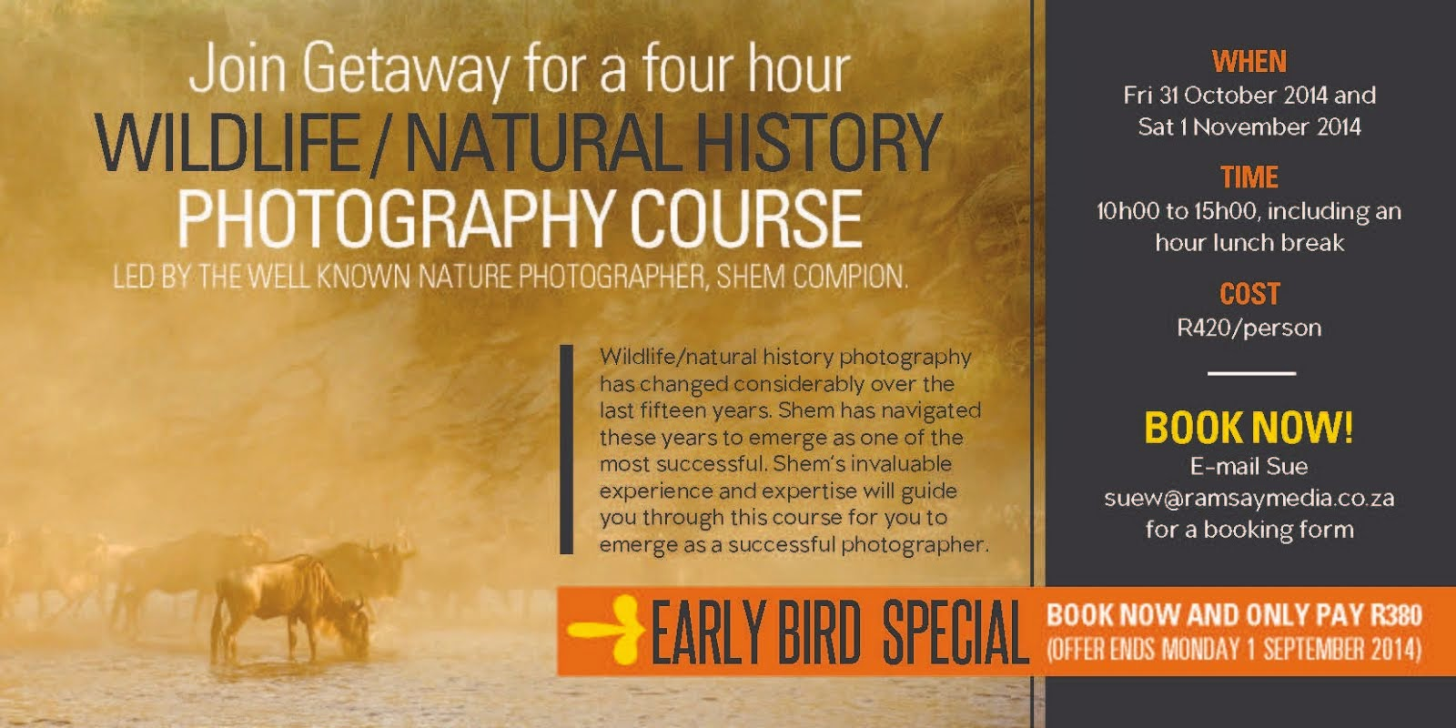 Gateway Wildlife / Natural History Photography course