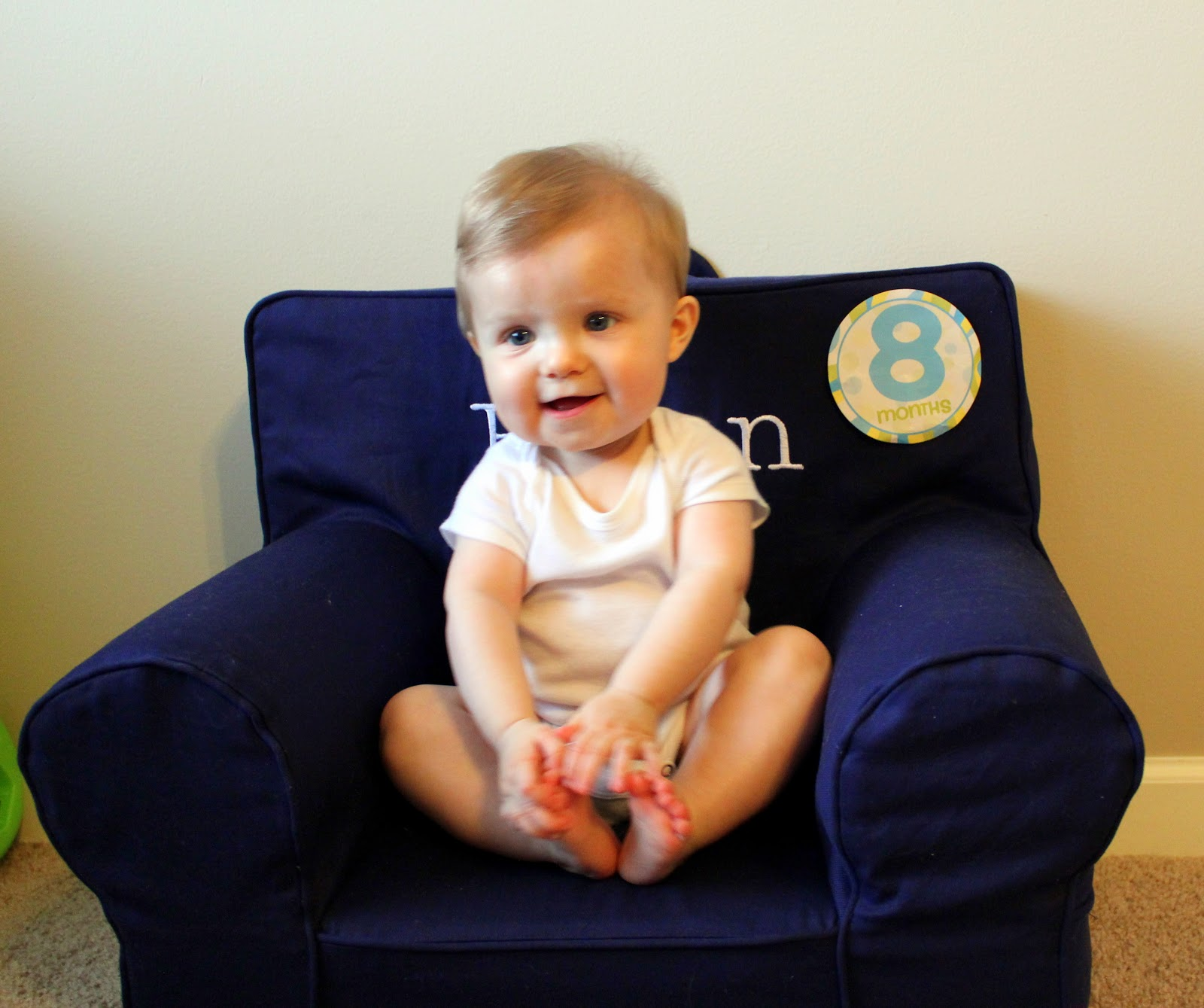 Baby On Board Eight Months Old