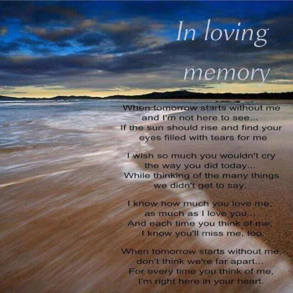For the memory of june palmer 19402004