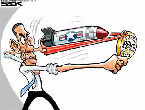 Obama Nobel cartoon
