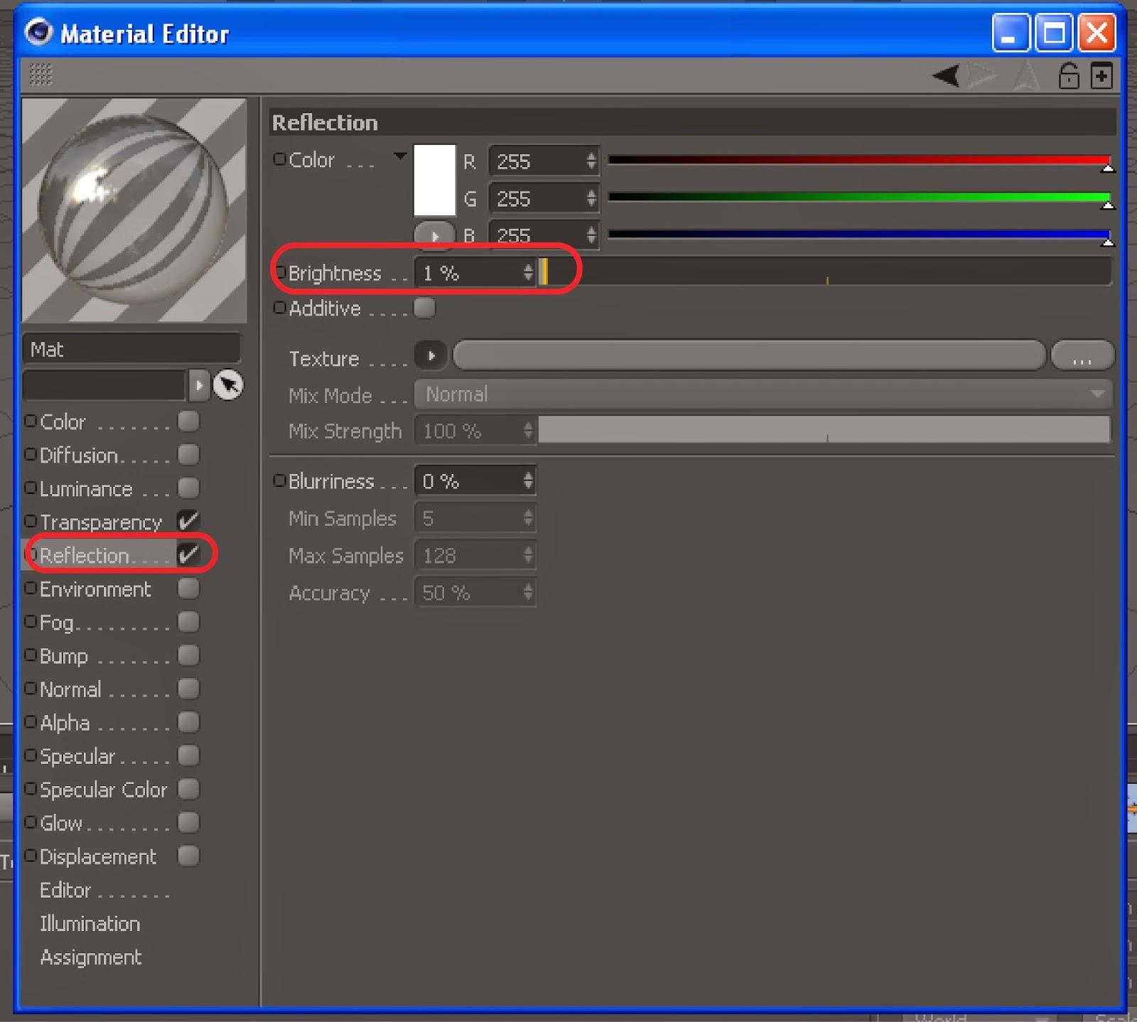 Make Glass Material Cinema 4D