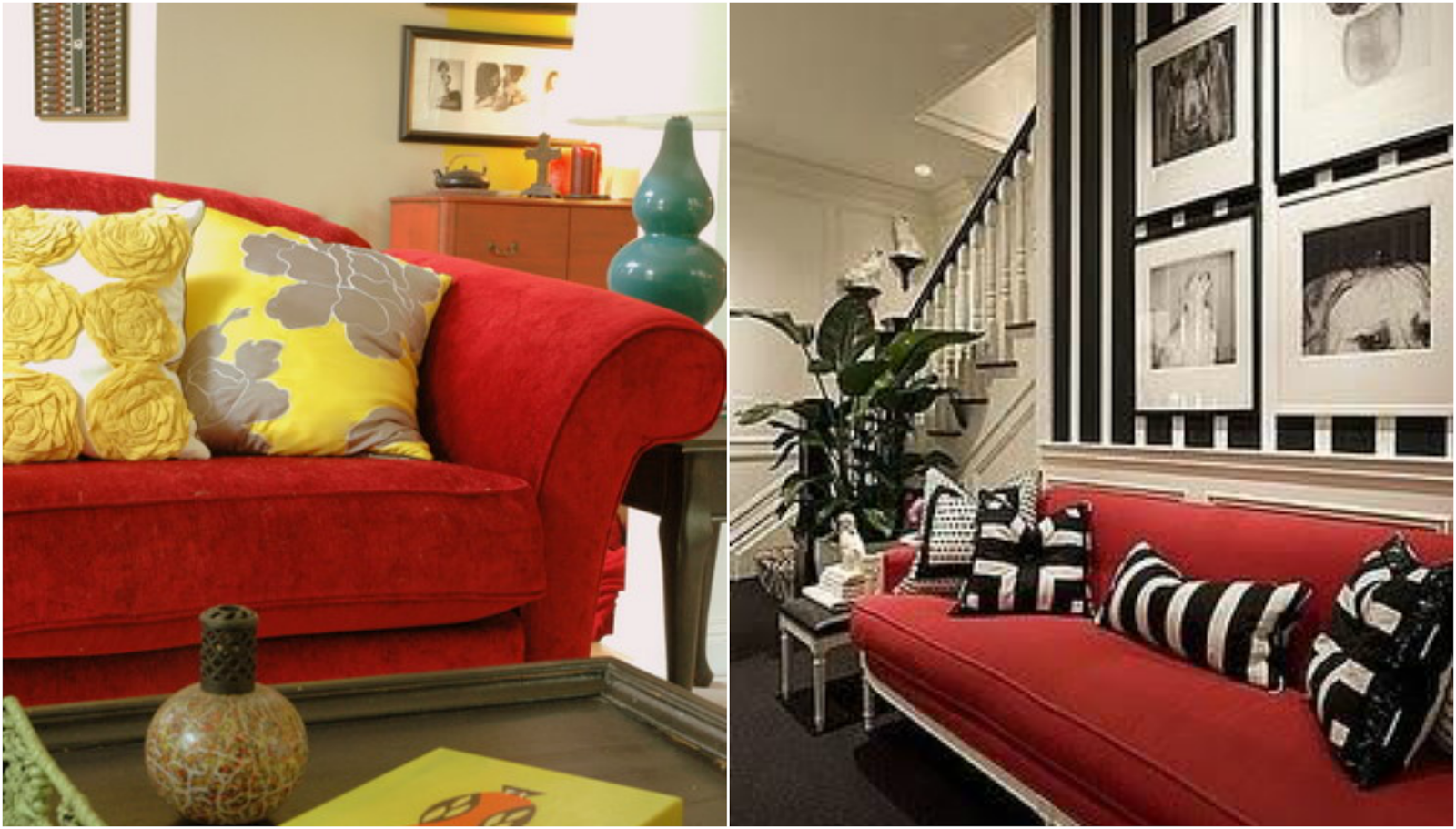 Oronovelo red couch living room inspiration Red sofa ideas