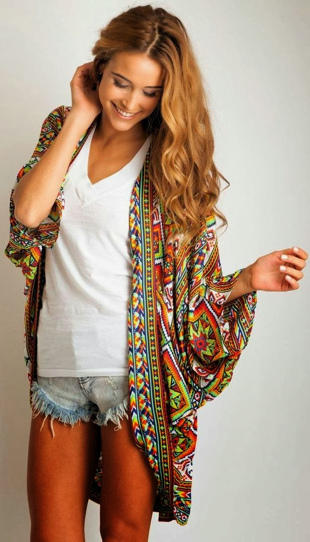 Printed oversized cardigan