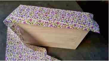 tecido e cola para forrar caixa em mdf