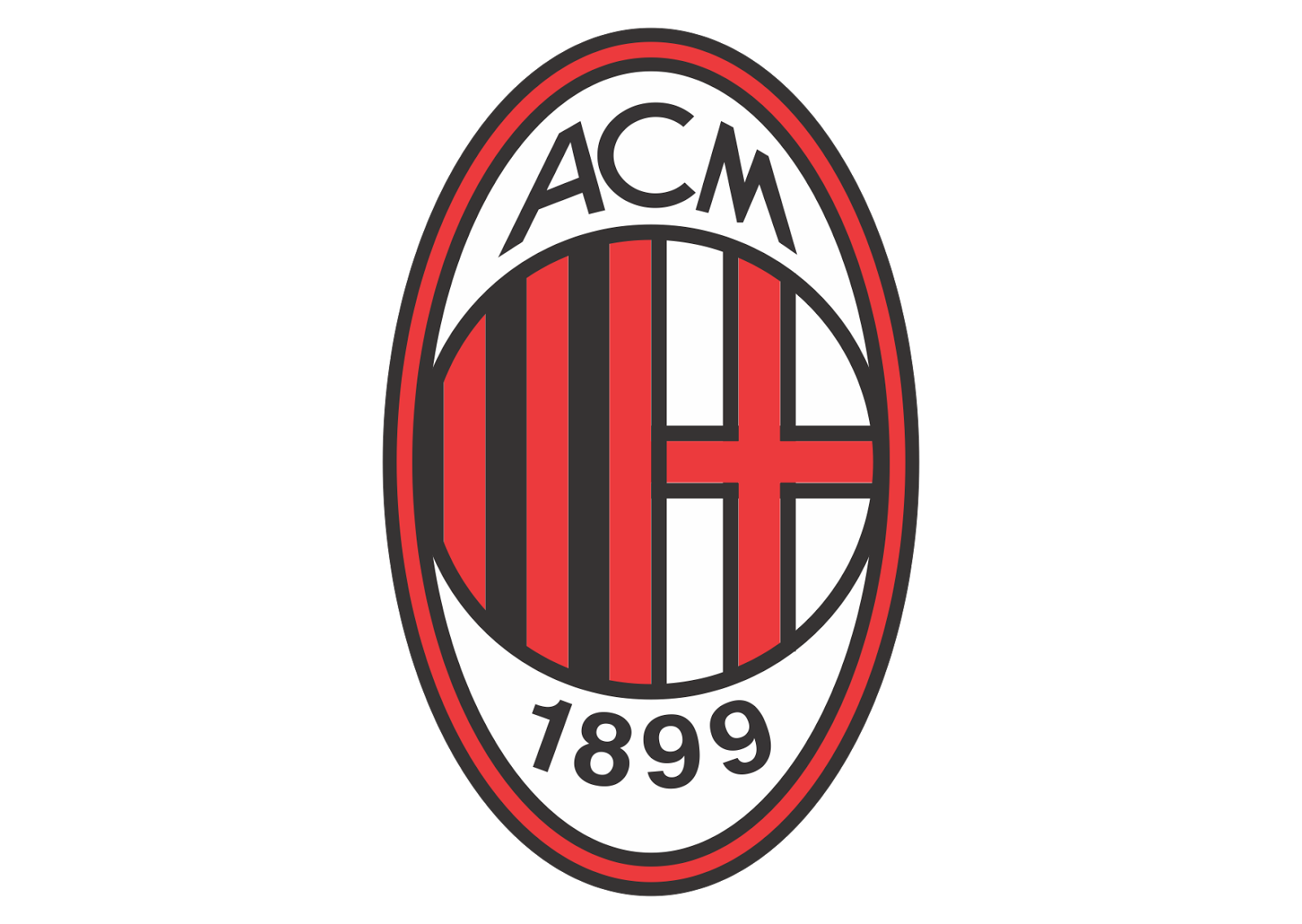 AC Milan Logo Vector download free