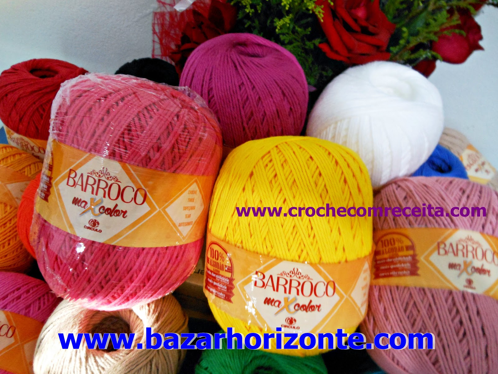 aprender croche com receita fios barroco maxcolor circulo bazar horizonte