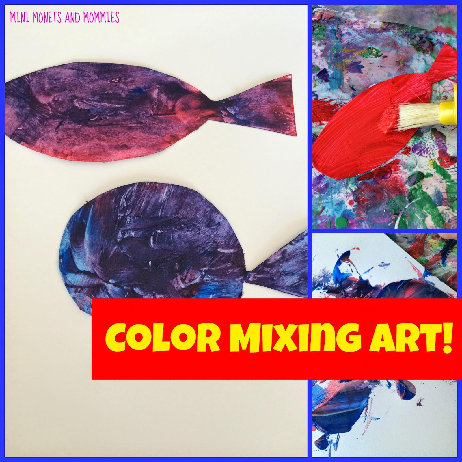 Coloring instruments mixing - Dr Seuss Art