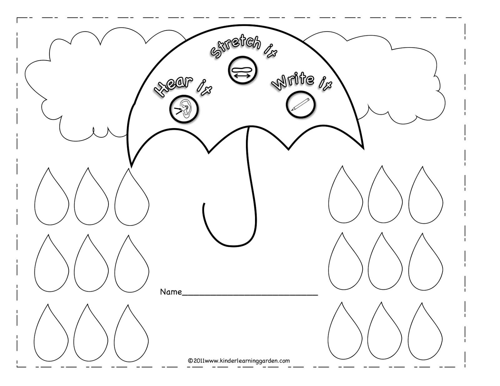 April Coloring Pages Preschool : Kinder learning garden april freebies