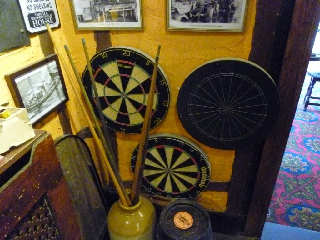 Darts at The Cock Inn, Luddesdowne