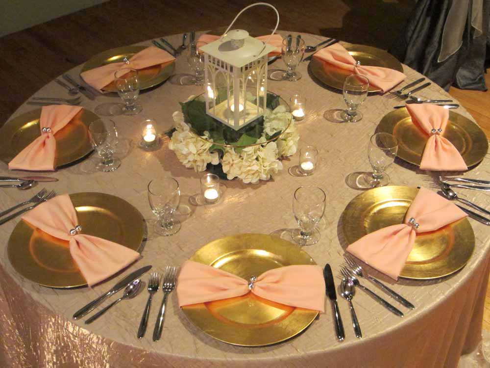 Get The Look Gold With Peach Accents Elite Events Al