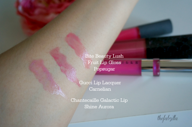 Chantecaille The Glacier Eye Shade Trio, Galactic Lip Shine Aurora, Review, Swatch, Photos, FOTD, Spring 2015