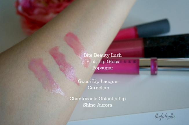 Chantecaille The Glacier Eye Shade Trio, Galactic Lip Shine Aurora, Review, Swatch, Photos, FOTD, Spring 2015