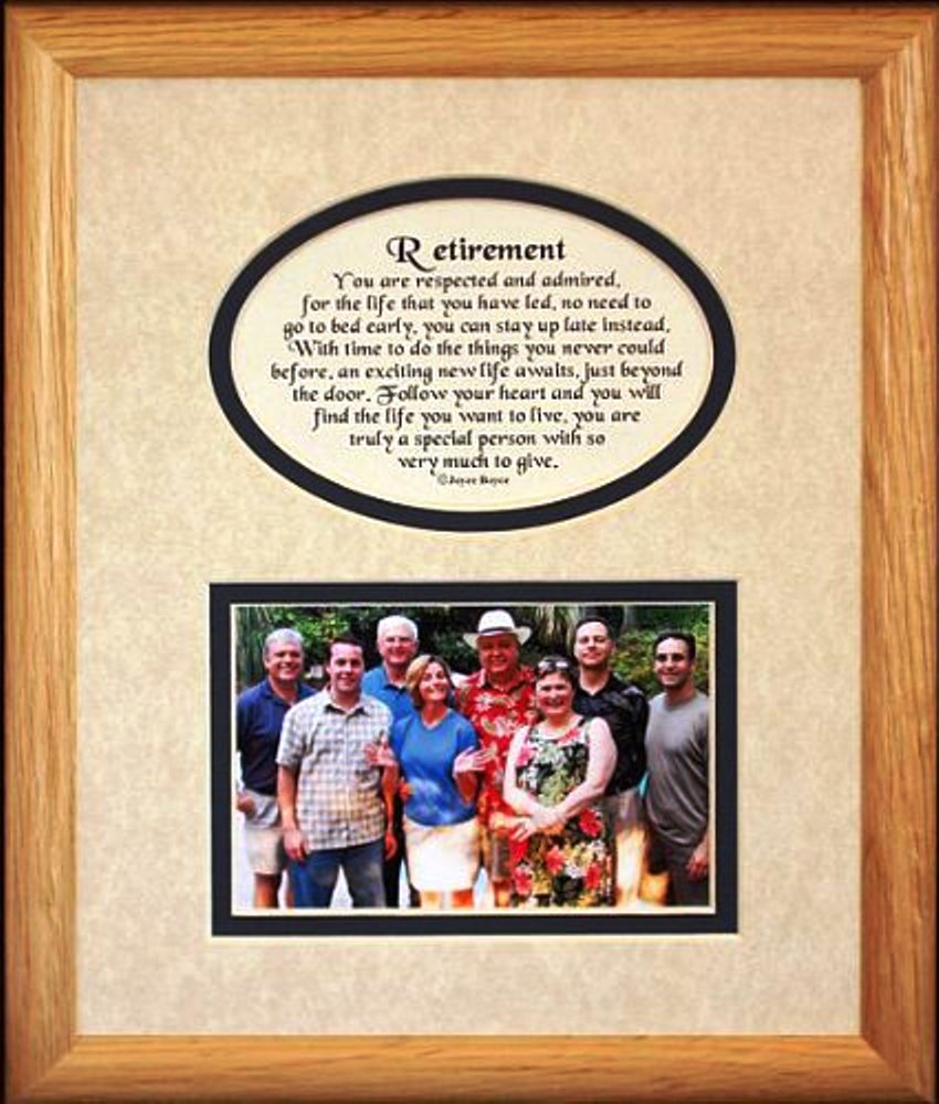 8x10 Retirement Picture Poetry Photo Gift Frame