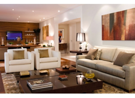 Decoracion actual de moda decoraci n con tonos tierra - Como decorar la sala de mi casa pequena ...