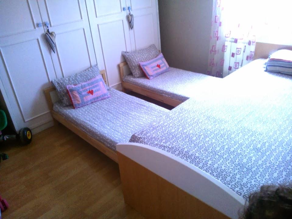Un dormitorio de blancanieves con camas nido deslizantes Cama nido ikea opiniones