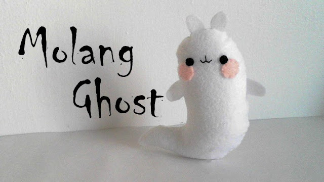 How to Make a Molang Ghost plushie tutorial