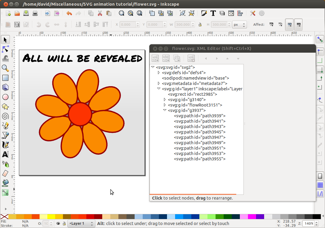 Creating an animated svg site 2 fade up david white the inkscape xml editor baditri Images