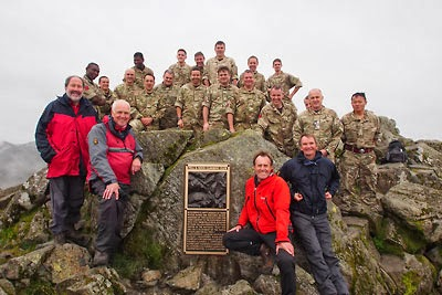 Great Gable FRCC War Memorial Plaque Team, September 2013