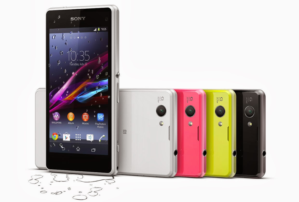 Sony Xperia Z1 Compact Colors available