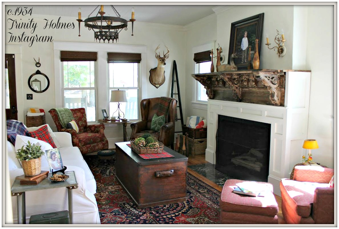 Farmhouse Living Room From My Front Porch To Yours- How I Found My Style Sundays- c.194 Trinity Holmes Instagram