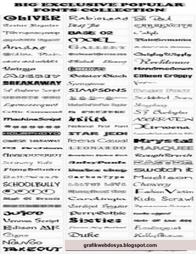 Font arşivi