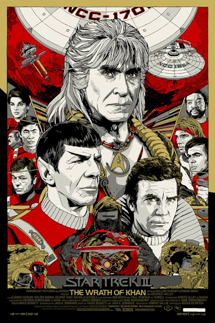 Star Trek II: The Wrath of Khan Screen Print by Tyler Stout