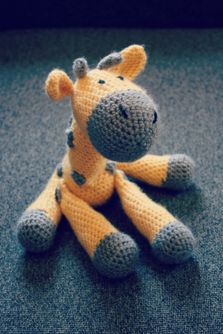 Jerry the Giraffe crochet amigurumi