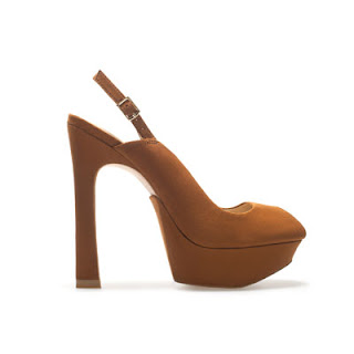 Fashion whisky high heel sling