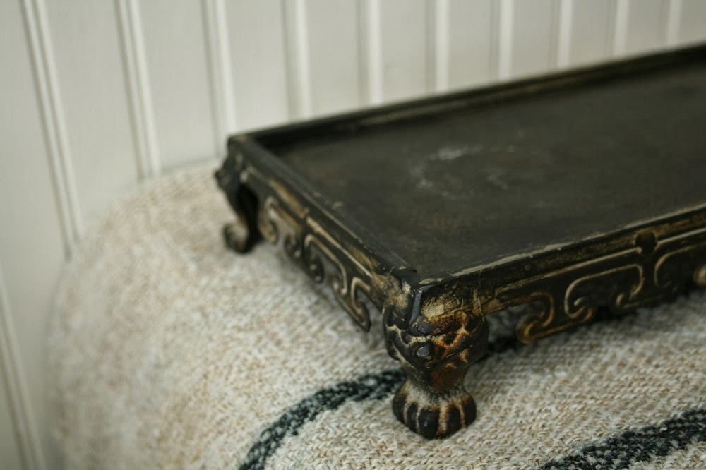 Footed tray, anthropologie, claw foot tray