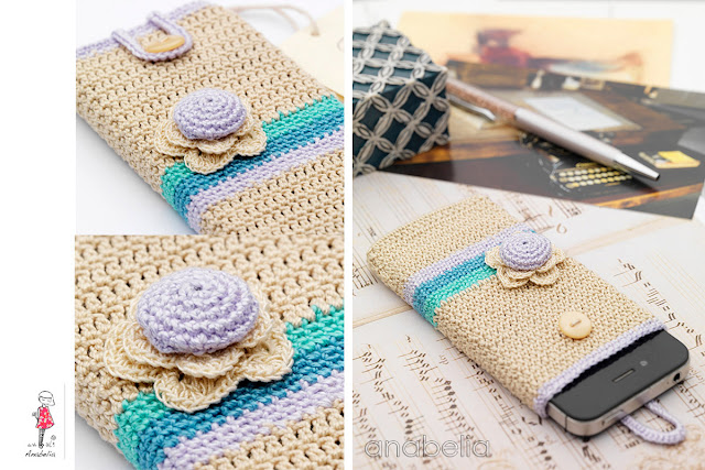 Smart phone crochet cover vintage