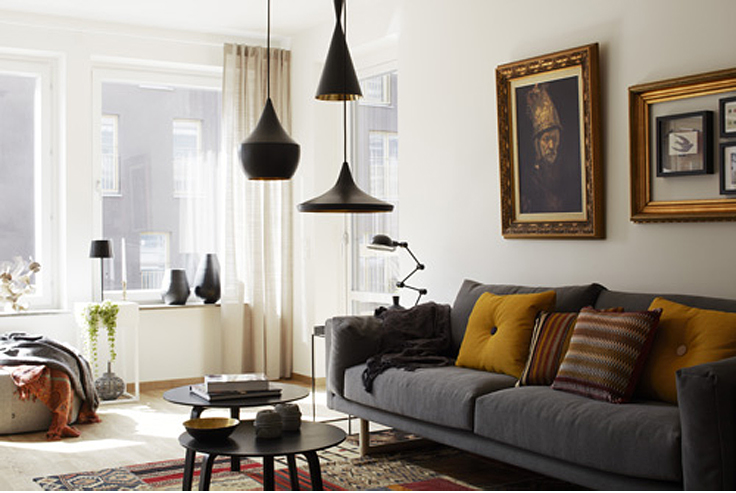 Lovely apartment decorated by Mood House   Decorating Homes