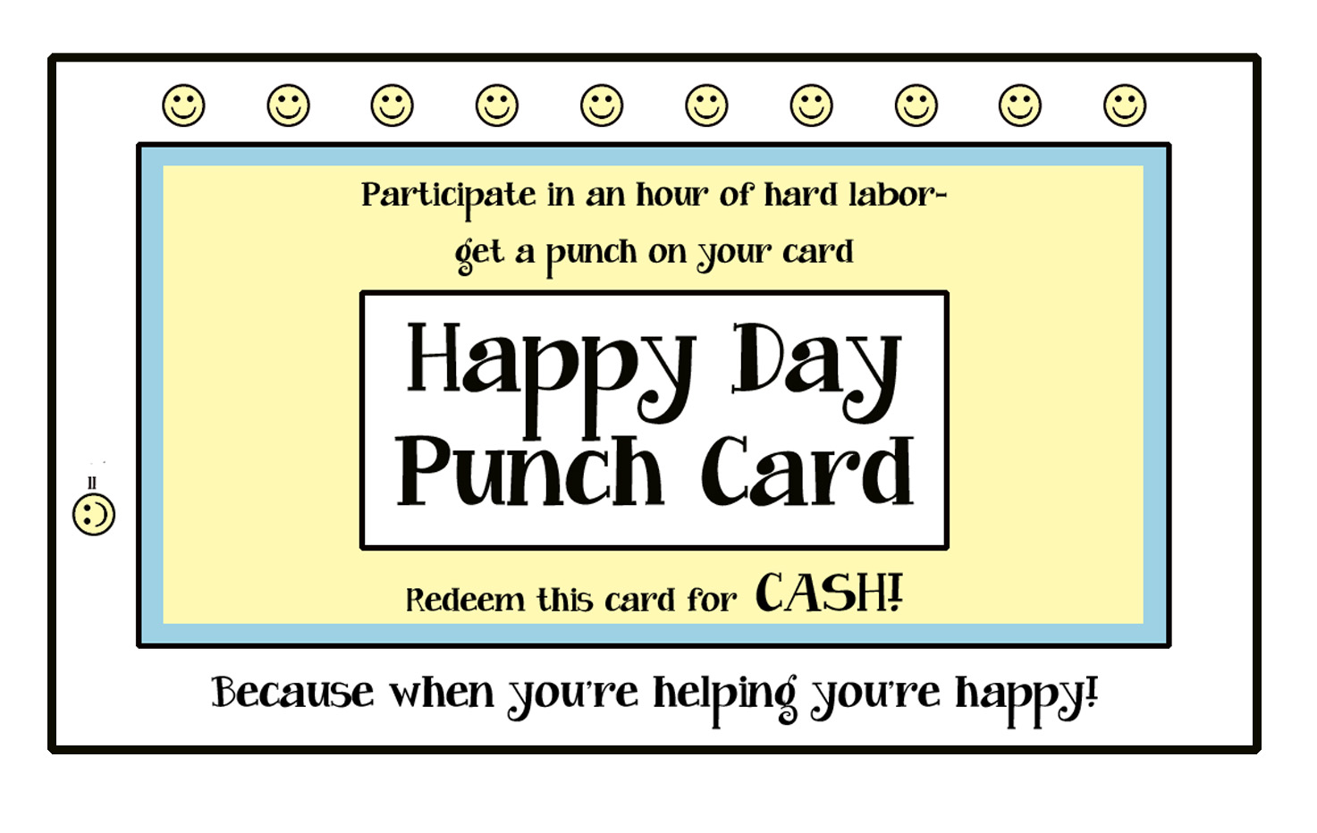 like a pretty petunia: Happy Day Punch Cards