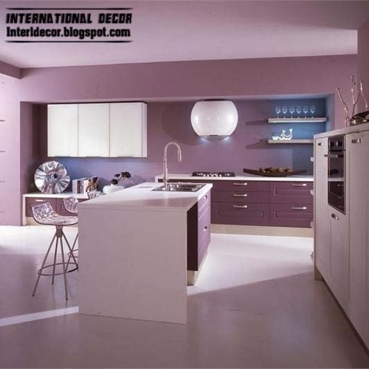 Purple kitchen interior design and contemporary kitchen for Contemporary kitchen designs 2014