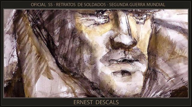 SS-SOLDADOS-PINTURA-ARTE-FRAGMENTO-RETRATOS-SEGUNDA GUERRA MUNDIAL-PERSONAJES-PINTOR-ERNEST DESCALS