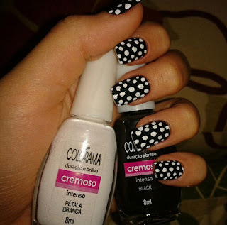Black White Nail Art