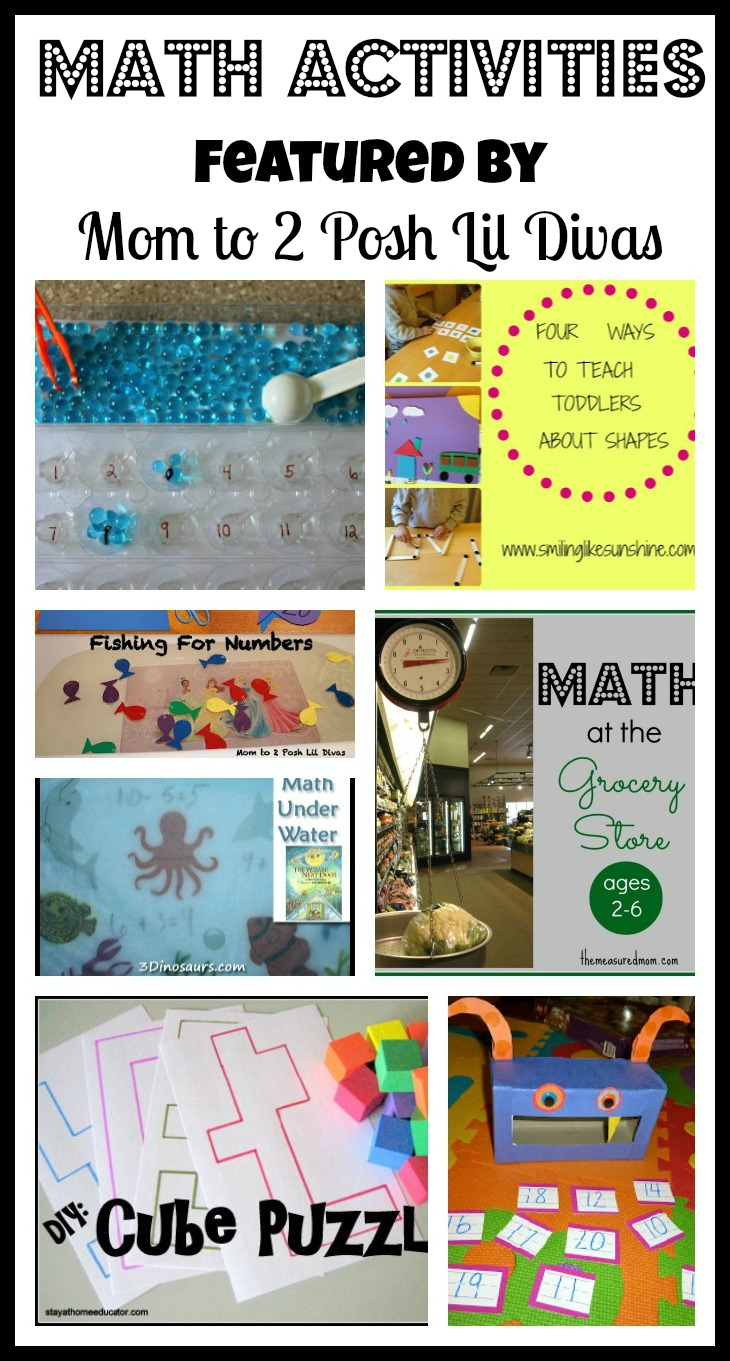 Mom to 2 Posh Lil Divas: Math Activities for Kids - The Sunday ...