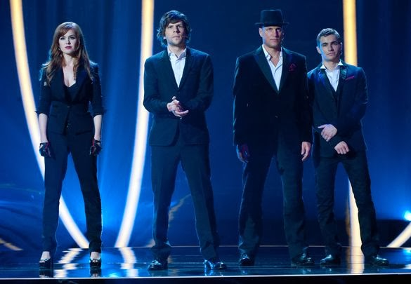 "Isla Fisher, Jesse Eisenberg, Woody Harrelson, and Dave Franco in ""Now You See Me"""