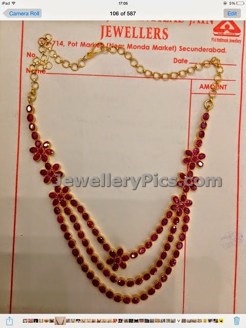burmied ruby jewellery set