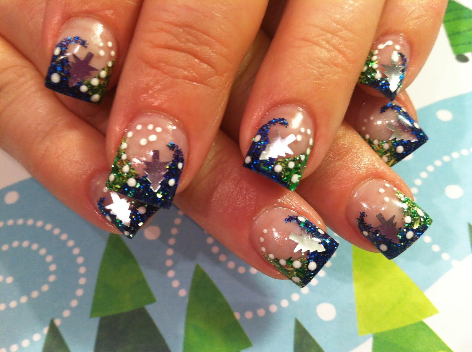 Рисунок для ногтей фото новогодние