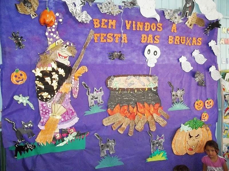 Famosos Ideias de murais/painéis para o Dia das Bruxas - 31 de Outubro  ZO81