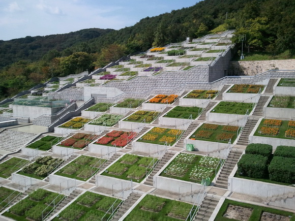 The world geography 12 amazing staircases around the world for Cementerio jardin memorial