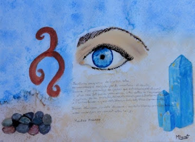 Sentir-se engruna de cristall blau... (Montserrat Lloret)