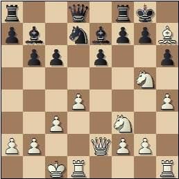 Partida de ajedrez Medina - Llorens, posición después de 14.Ah7+