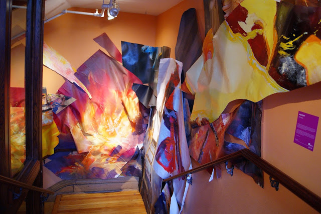 Come Up To My Room 2015, Gladstone Hotel in Toronto, CUTMR, culture, event, installations, art, artmatters, design, interior, Ontario, Canada, artists, TODO, IDS, The Purple Scarf, Melanie.Ps, Phil Irish, Ascent, staircase, painting
