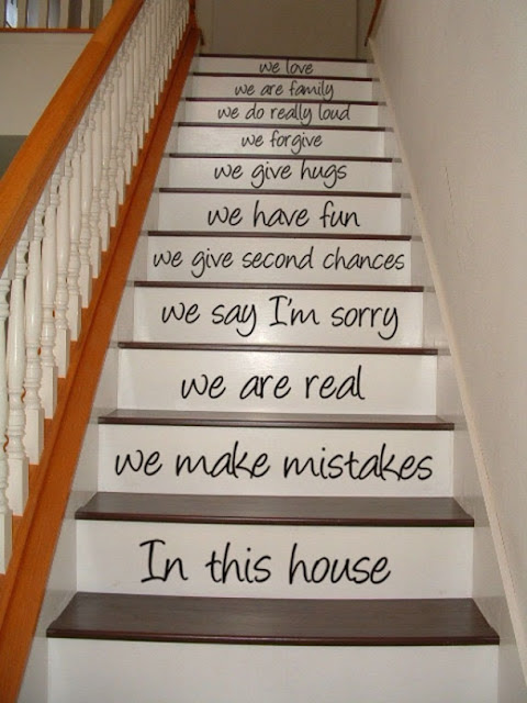 Anak tangga dengan kata motivasi