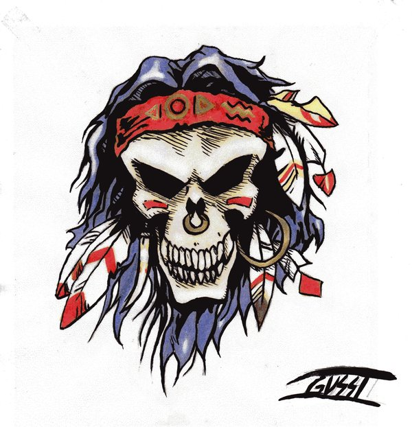 Indio Caveira Indian Skull By Lordgusstjpg