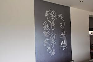 Muurschildering keuken