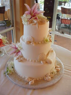 5 awesome ideas beach wedding cakes